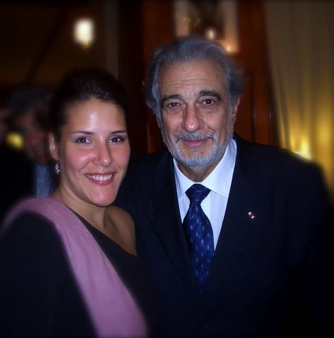 Danielle Talamantes with Placido Domingo