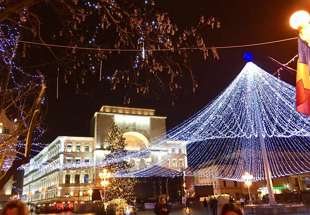 Christmas in Romania, Opera House, Victory Square, Timisoara