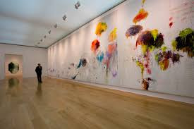 Twombly: Say Goodbye Catullus, painting in three parts