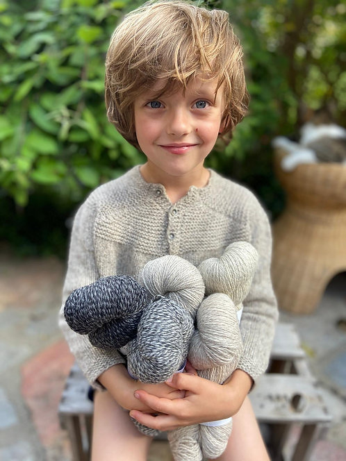 POLA-Pulli Baby/Kind, Wollpaket Semilla Pura ab