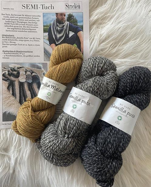 SEMI-Tuch, Wollpaket/Semilla Melange & Pura, ab