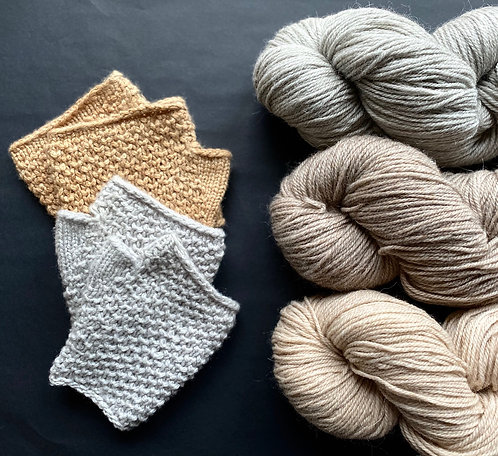 Perlchenpulswärmer, Wollpaket/Alpaka&Wolle von MdU