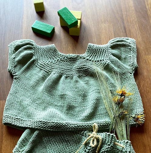MALA-Bluse/Baby&Kind, Wollpaket/Bio-Baumwolle, ab