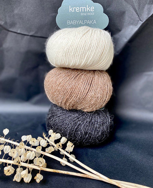 Babyalpaka, naturbelassen, von Kremke Soul Wool
