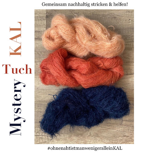 MYSTERY-Tuch, Wollpaket/Mohair & Wolle