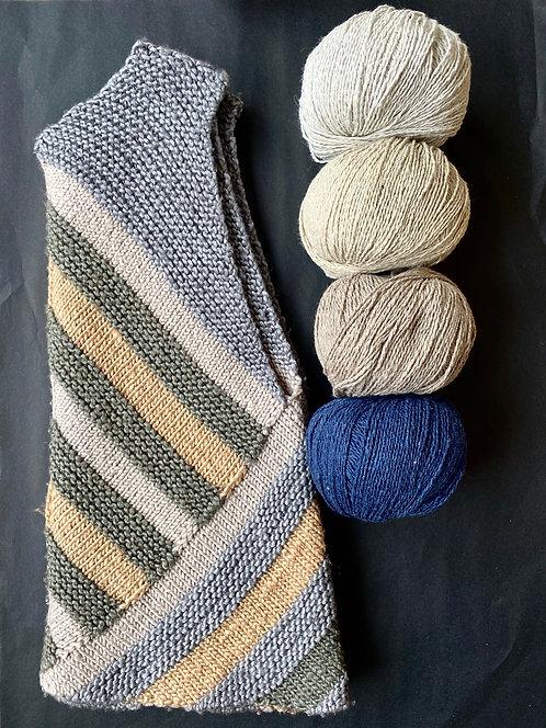 LARA-Kleid, Wollpaket/recyceltes Denimgarn, ab