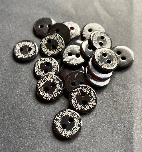 Perlmuttknöpfe, Black Pen, Ornamentmuster
