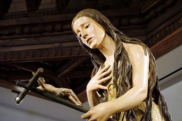 La Magdalena penitente. Pedro de Mena. Museo Nacional de Escultura de Valladolid.