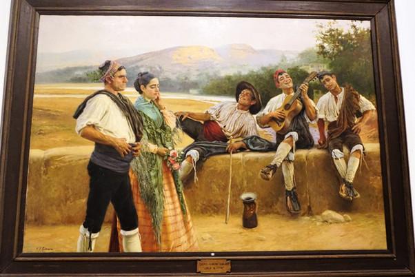 """""""Copla Alusiva"""". Juan José Gárate. Museo Provincial. Zaragoza."""