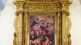 Retablo mayor de la iglesia de san Miguel de Chodes (Zaragoza). Una magnífica obra de fray Manuel Ba