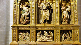 Retablo de la capilla de Santiago. Colegiata de Santa María de Bolea (Huesca). Gabriel Joly.