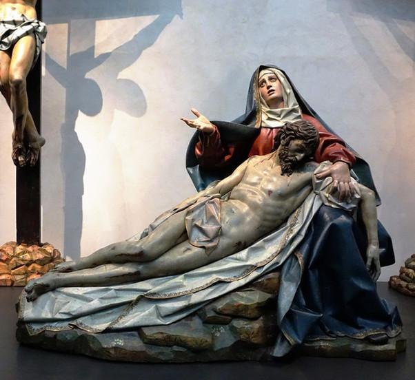 La Sexta Angustia. Gregorio Fernández. Museo de Escultura Valladolid.