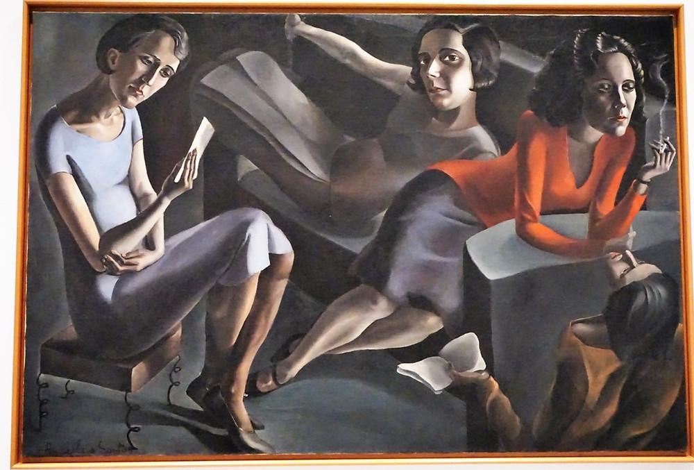 La Tertulia (Museo Reina Sofía. Madrid). Una obra de la pintora Ángeles  Santos, una artista a reivin
