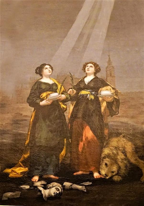 Santas Justa y Rufina, obra de Francisco de Goya y Lucientes. Catedral de Sevilla.