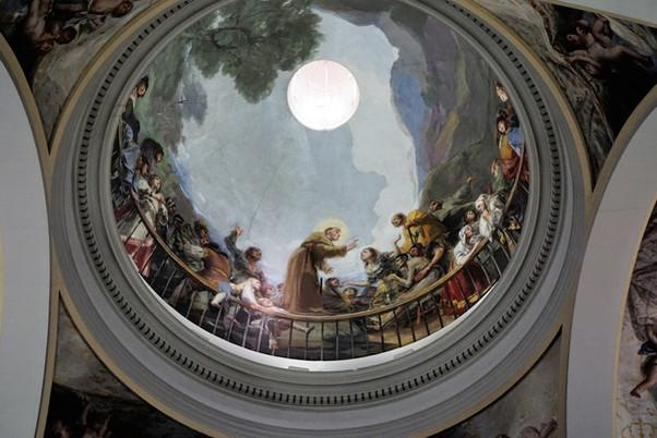 Los frescos de Francisco de Goya en la ermita de San Antonio de la Florida. Madrid