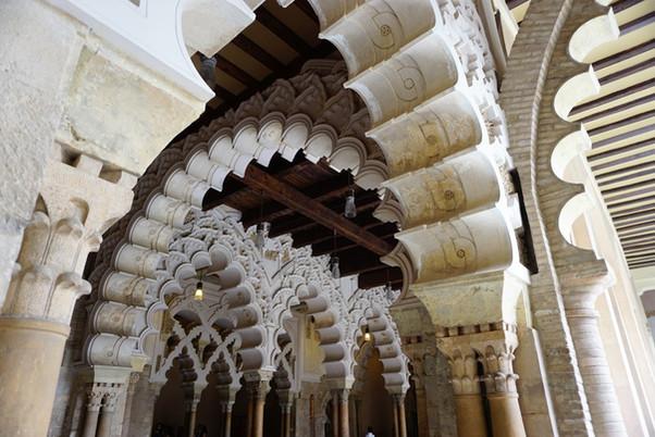 """La Aljafería. Qasr al-surûr, el """"Palacio de la Alegría"""". Restos del palacio taifal. Zaragoza."""