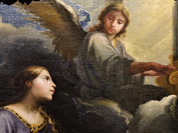 Santa Cecilia y el Ángel. Jusepe Martínez. Museo de Bellas Artes. Zaragoza.