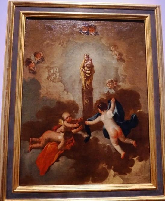 Virgen del Pilar. Francisco de Goya y Lucientes. Museo Provincial. Zaragoza.
