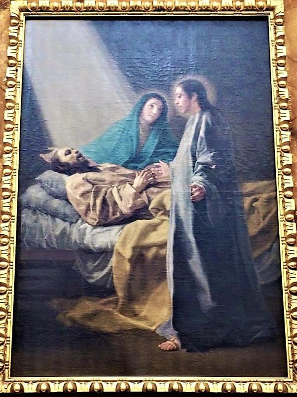 Francisco de Goya y Ramón Bayeu  en la iglesia del convento de san Joaquín y santa Ana. Valladolid.