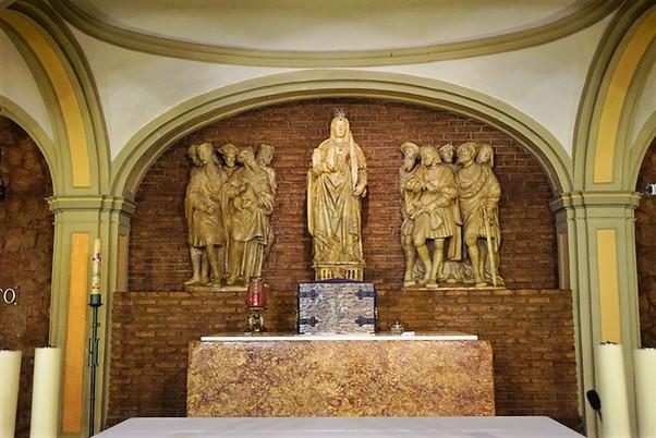 El retablo de la cripta de la basílica de Santa Engracia. Zaragoza.