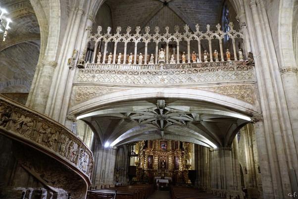 El coro de la iglesia arciprestal de Morella (Castellón). Una de las joyas del arte gótico.