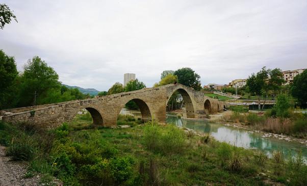 El Puente románico de Capella  (Huesca).