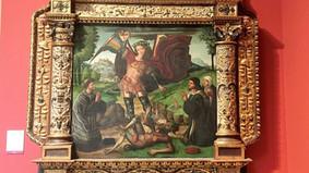 Retablo de san Miguel Arcángel. Iglesia de la Asunción. Abanto (Zaragoza). Atribuido a Juan Soreda.