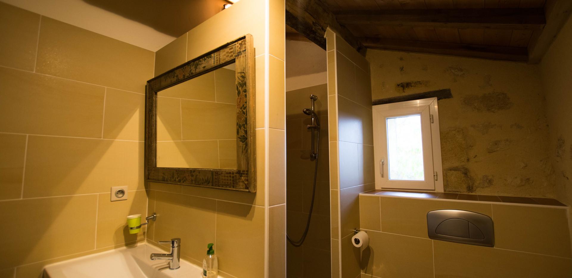 Chambre de la douche - salle de bain avec douche