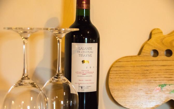 A glass of TIFAYNE red wine - Francs Côtes de Castillon