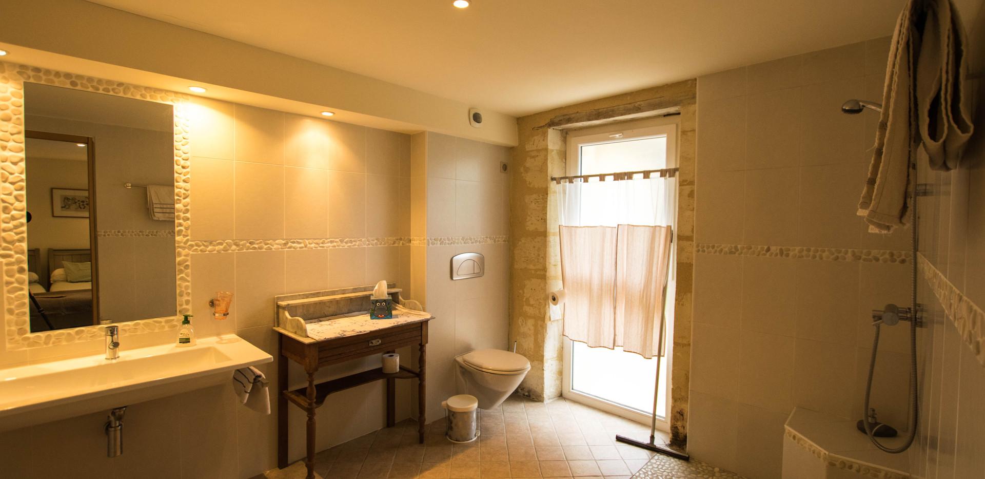 Chambre Patio - salle de bain spacieuse