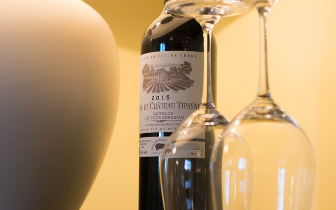 A glass of TIFAYNE red wine - Castillon Côtes de Bordeaux