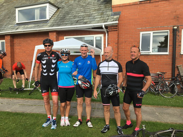 Charity bike ride in the Ribble Valley followed by a party in the Memorial Hall.