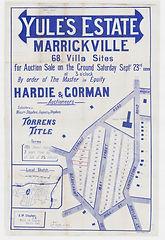 1899 Yule's Estate, Marrickville - Terra