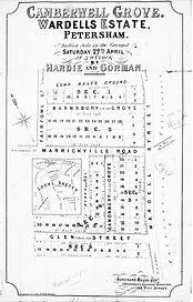 1889 Camberwell Grove Wardells Estate Ba