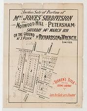 1891 Portion of Mrs Jones' subdivision,