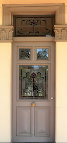 No 1 Dulwich Street Front Door Panels an