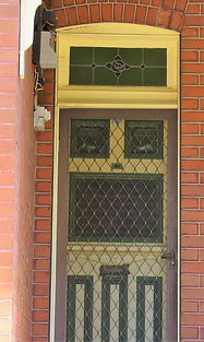 No 9 Abergeldie Street Front Door Panels