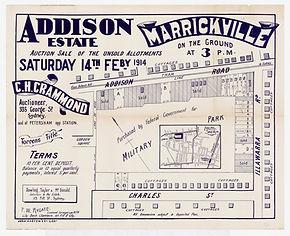 1914 Addison Estate, Marrickville - Char