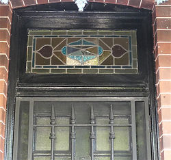 No 1 Calvert Street Front Door Fanlight.