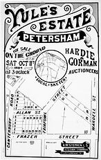 1884 Yules Estate Petersham Canterbury R