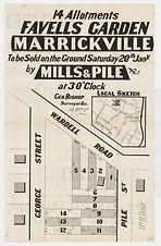 1883 14 allotments, Favells Garden, Marr