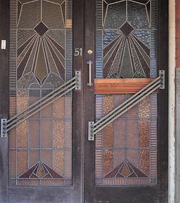 No 51 Ewart Street Double Doors Interwar