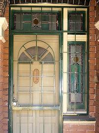 No 108 Denison Road Front Door Sidelight