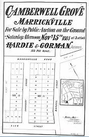 1884 Camberwell Grove Marrickville Glen
