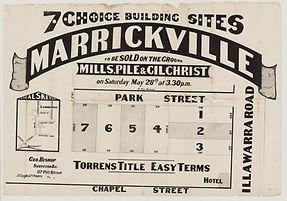1887  7 choice building sites, Marrickvi