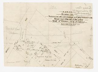 1895 N.S.W.G.R Belmore Line - Plan shewi