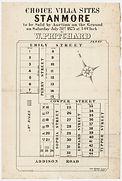 1875  Choice villa sites, Stanmore - Emi
