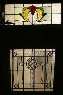 1 Marion St Front Door Panel and Fanligh