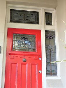 No 73 Addison Road Front Door Panels, Si