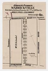 1887 Garner's Paddock Marrickville - Garners Ave, Illawarra Rd, Sydenham Rd, Marrickville Rd,.jpg